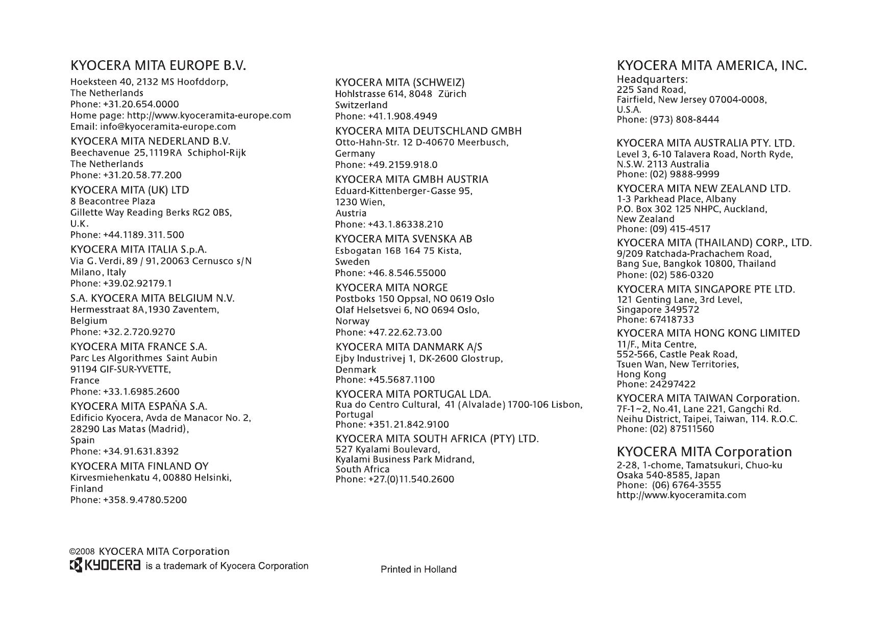 kyocera taskalfa 250ci service manual